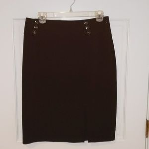 Black pencil skirt with button details
